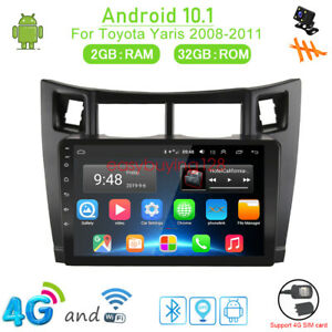 32gb Android 10 1 Car Dvd Player Gps Navi Radio Stereo 4g Video For Toyota Yaris