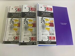 Five Star Set Of 3 Notebooks 3 5 Wide Ruled