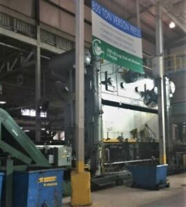 800 Ton Capacity Verson Straight Side Press For Sale