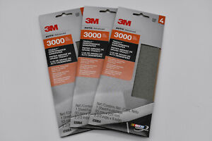 Lot Of 3 Pack 3m 03064 Trizact Performance 3000 Grit Sandpaper 3 2 3 In X 9 In