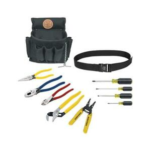 Klein Tools Electrical Tool Set Cutting Pliers Long Nose Screwdriver 11 Piece