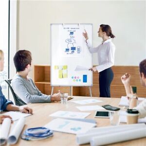 Dry Erase Board Magnetic Whiteboard Portable Adjustable Easel For Office Meeting