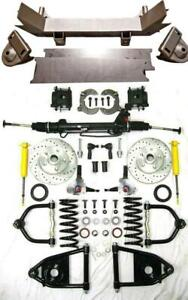 1955 1959 Chevy Truck Mustang Ii Power Front End Suspension Kit Ifs Stock