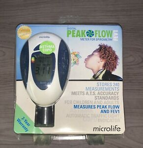 New Open Box Microlife Fev1 Digital Peak Flow Meter Spirometer Asthma Copd