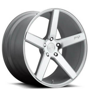 4 18 Niche Wheels M135 Milan Silver Machined Rims b46