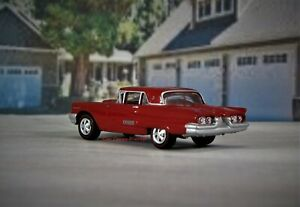 1958 1960 Ford Thunderbird Coupe Red Collectible T bird Diorama Model 1 64