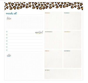 The Happy Planner Leopard Rolled Weekly Dry Erase Calendar 80 Decals Marker