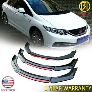 Us Stock Front Bumper Lip Splitter For 2013 2015 2014 9th Honda Civic Sedan Si