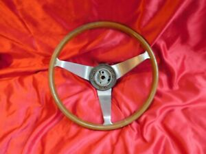 Vintage 1966 Dodge Charger 14 Simulated Wood Steering Wheel Mopar