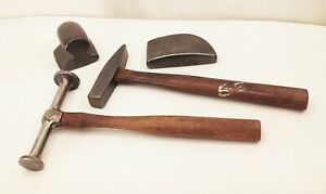 Vtg Auto Body Metal Working Toe General Purpose Dolly Dinging Hammer Tool Lot