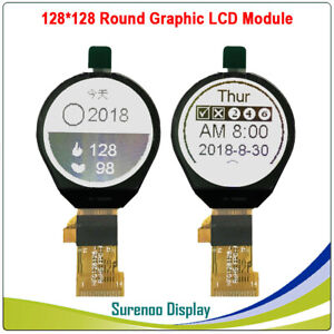 1 0 128x128 128128 Ist7920 Round Serial Spi Graphic Lcd Module Display Screen