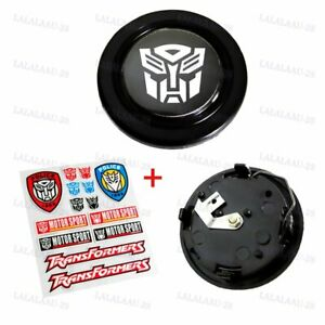 X1 Transformers Autobot Steering Wheel Horn Button Universal Free Sticker Set