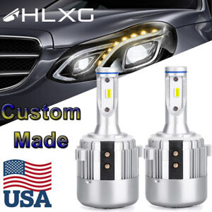 H7 Holder Adapter Led Headlight Kit For Volkswagen Vw Golf Gti Passat Mk7 Usa