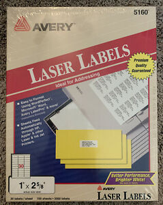 Avery Address Labels 3 000 Count White New Sealed Box Vintage