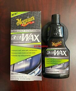 Meguiar s Car Auto 3 in 1 Wax Clean Polish Protect One step Paint Care 16oz