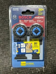 Bosch Starlock Carbide Extreme Oscillating Saw Blades 2 pack Osl002c Brand New