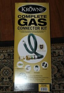 Krowne Complete Gas Connector Kit 3 4 X 48 M7548k Nib