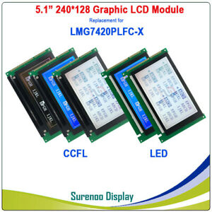 5 1 240 128 Graphic Lcd Module Replacement For Hitachi Lmg7420 Lmg7420plfc x