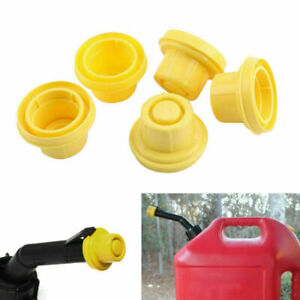 5x Replacement Yellow Spout Cap Top Fit For Blitz Fuel Gas Can 900302 900092