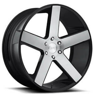4 24 Dub Wheels Baller S217 Gloss Black With Brushed Face Rims B47