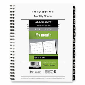 At a glance Executive Monthly Planner Refill 8 75 X 6 5 White 2021 7091410