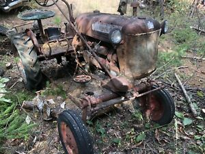 International Harvester Farmall Cub Tractor Belly Mower Antique Tractor Red