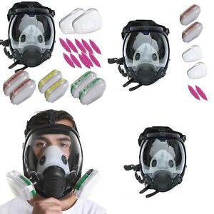 Respirator Full Face 15 In 1 7 In 1 Gas Mask Paint Chemicals Safe Face Cover New