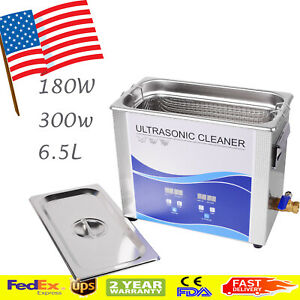 Ce 6 5l Ultrasonic Cleaner Cleaning Machine Liter Industry Heated W timer Heater