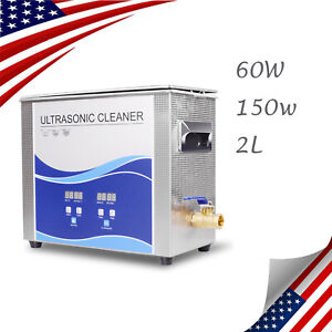 Us 2l Ultrasonic Cleaner Cleaning Equipment Liter Industry Heated W timer Heater