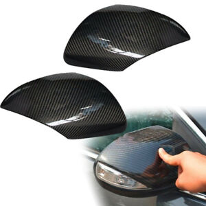 Pair Wing Rearview Side Mirror Cover Case Cap Fit For Mazda 3 Speed3 2010 2013