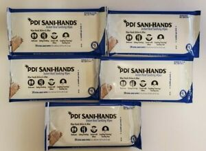 Pdi Hand Sanitzing Wipe Sani hands Ethyl Alcohol Wipe 100 Large Wipes 5 Packets