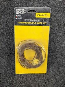 new Fluke Extension Thermocouple Wire Kit Type K 80pk ext K129