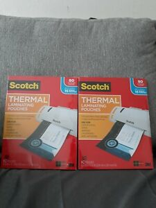 2 Scotch Thermal Laminating Pouches 80 Ct 8 9 X 11 4