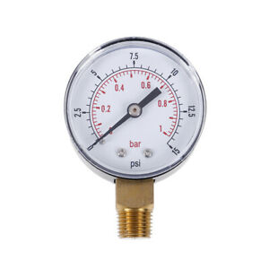 Low Pressure Gauge For Fuel Air Oil Gas Water 50mm 0 15 Psi 0 1 Bar 1 4 Bs Fe