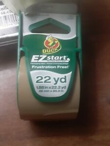 Duck Brand Ez Start Packaging Tape With Dispenser 1 88 Inches X 22 2 Yards