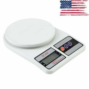 Digital Food Kitchen Scale Lcd Display Weight 22lb 10kg Pounds Grams Ounces Kg