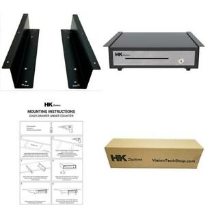 Hk Systems Under Counter Mounting Metal Bracket For 13 And 16 Cash Drawer