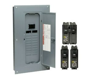 Square D 100 Amp 20 space 40 circuit Indoor Main Breaker Load Center Panel Box