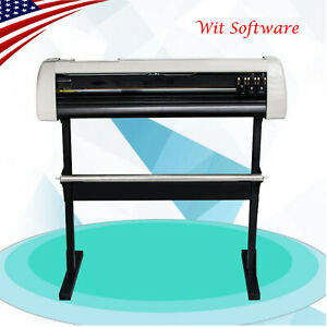 Us 28 cutting Plotter Vinyl Cutter Machine Adjustable Width With Lcd Usb Connect