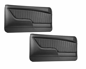 Sport Ii Molded Door Panel Set Black For 1969 Camaro By Tmi Made In Usa