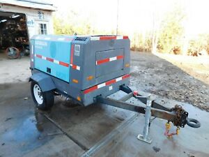2011 11 Airman Pds185s Towable Air Compressor Generator Diesel 572 Hours