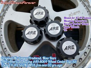 American Racing 8064 Wheel Center Cap Set Nos Ford Saleen Mustang Basket Weave