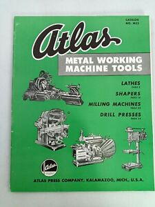 Atlas Metal Working Machine Tools Catalog m52 Milling Sharpers Lathes Drill