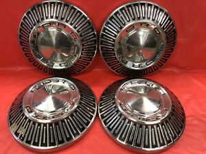 Vintage Set Of 4 196567 Ford Dog Dish Hubcaps Poverty Fomoco