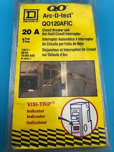 Square D Qo120afic 20 Amp Single pole Combination Arc Fault Cfic Circuit Breaker