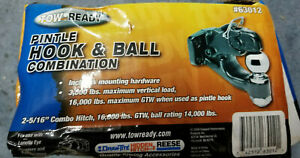 Draw tite Pintle Hook Trailer Hitch Combo W 2 5 16 Ball 16 000 Lbs Gtw 63012
