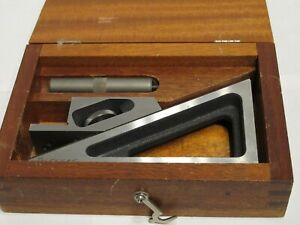 Brown Sharpe Planer Gage Model 624 In Fitted Wooden Case Usa Nice