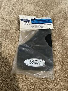 Nos Vintage Ford Front Or Rear Mud Flaps Splash Shields Rock Guards Pair