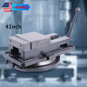 4in Powerful Bench Clamp Lock Vise With 360 Swivel Base Milling Machine