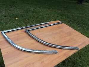 1939 Mercury Coupe Left And Right Side Rear Stainless Window Frame Channel Oem